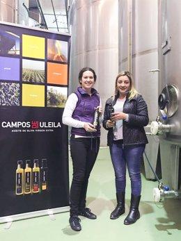La diputada María López Asensio en las instalaciones de 'Campos de Uleila'.