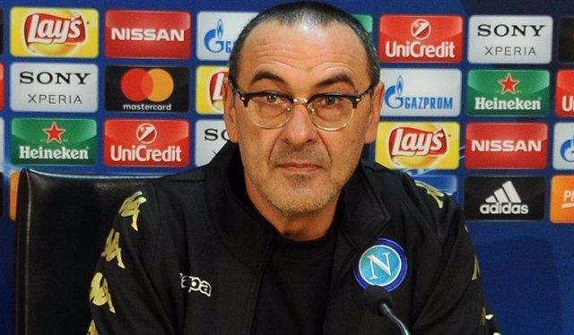 Maurizio Sarri en rueda de prensa
