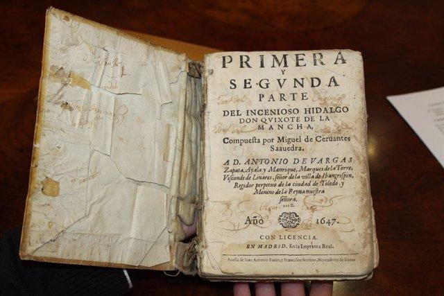 Resultado de imagen de HUELVA | CULTURA Un particular dona un libro de 'El Quijote' de 1647