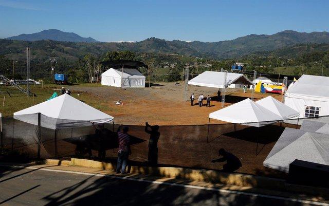 Zona de concentración de las FARC