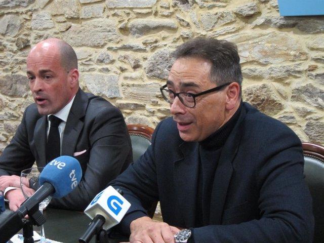 Jaime López (de los empresarios de Lugo) y Antón Arias
