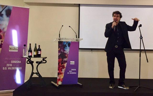 Javier Veiga presenta vinos de Valdeorras