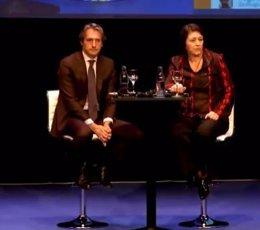 El ministro de Fomento y la comisaria de Transporte, Violeta Bulc