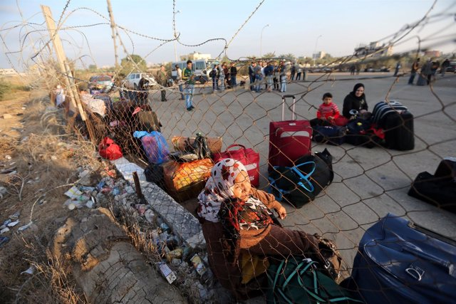 El paso de Rafá, en la frontera entre Gaza y Egipto