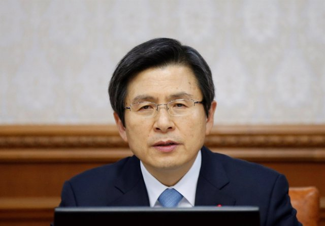 El primer ministro y presidente interino de Corea del Sur, Hwang Kyo Ahn