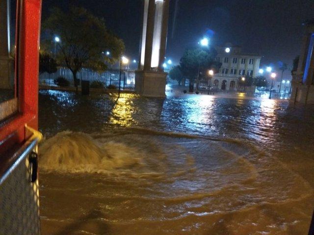 Paseo de los Curas lluvia inundaciones granizo