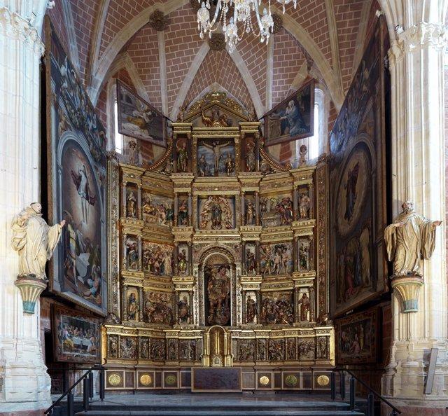 El retablo de Ibdes restaurado