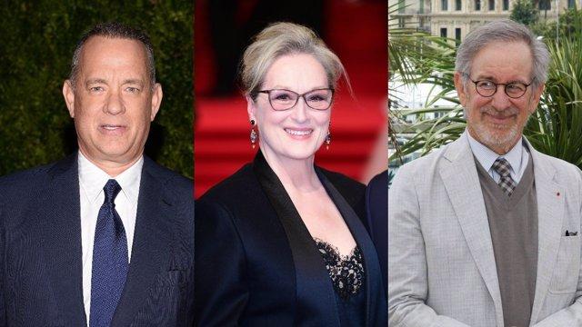 Tom Hanks, Meryl Streep Y Spielberg