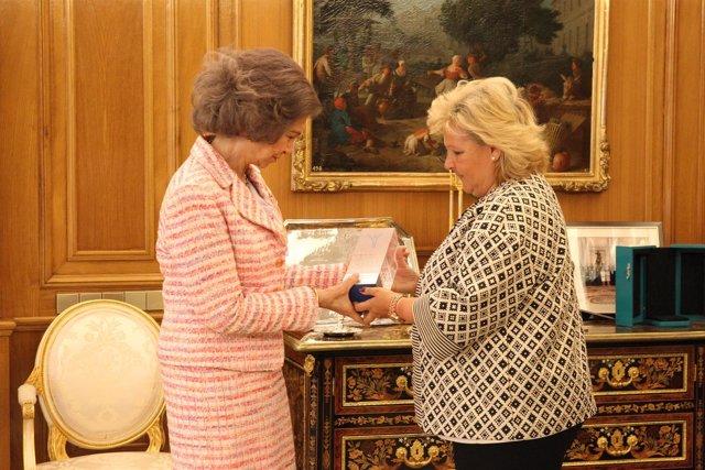 Ángeles Pedraza y la Reina Sofía