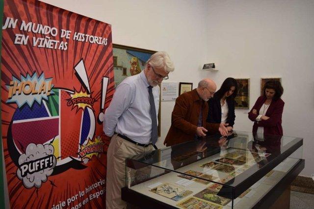 Exposición sobre el cómic que se puede ver en el Museo Pedrilla de Cáceres