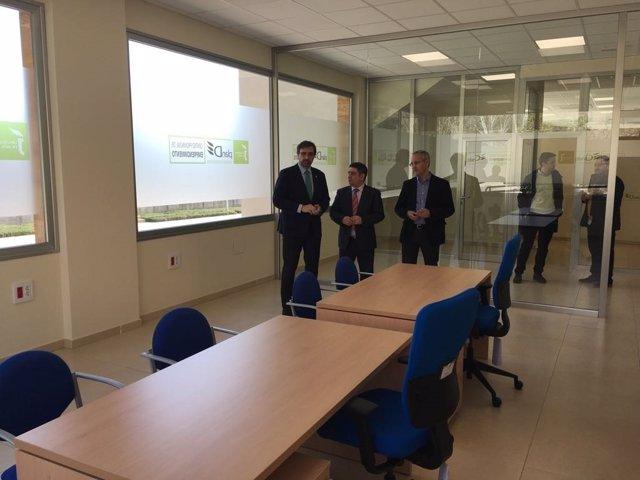 Visita al Centro Provincial de Emprendimiento en la UJA