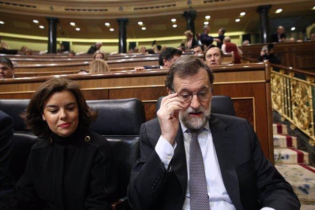 Soraya Sáenz de Santamaría y Mariano Rajoy