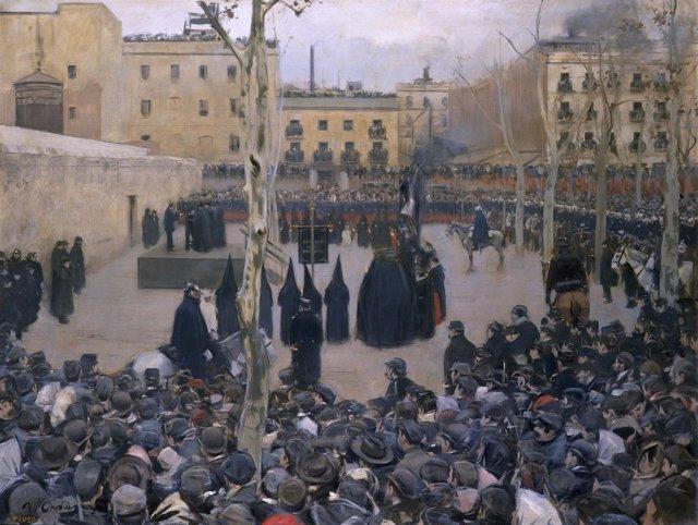 Obra de la exposición en torno a Ramón Casas en el CaixaForum