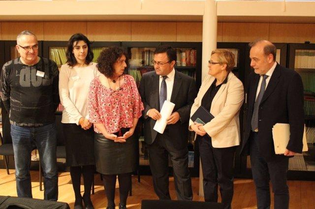 Reunión del PSOE con la Fundación Gloria Fuertes