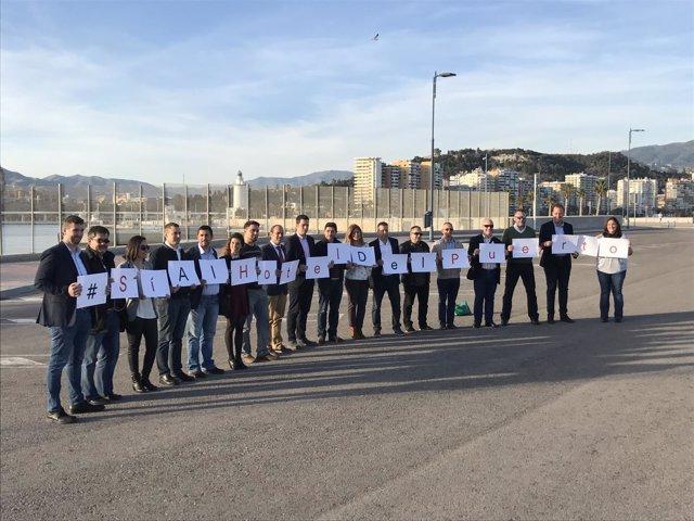 Ciudadanos presenta una campaña de apoyo al hotel del puerto de Málaga