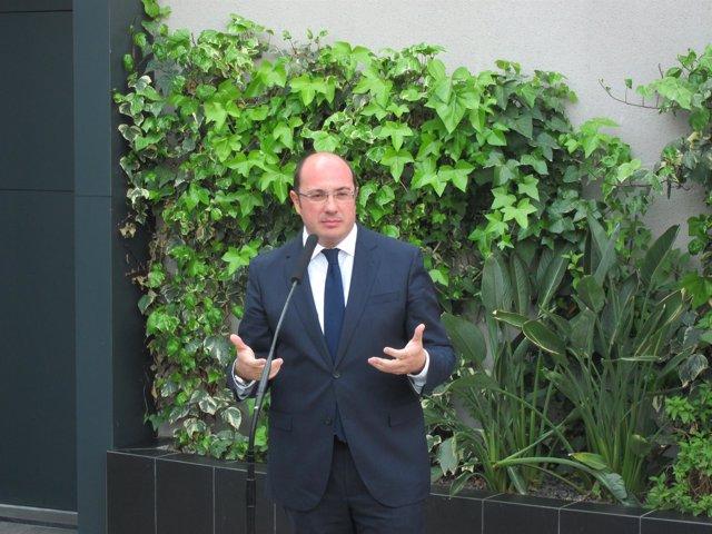 Pedro Antonio Sánchez, tras declarar ante el TSJ