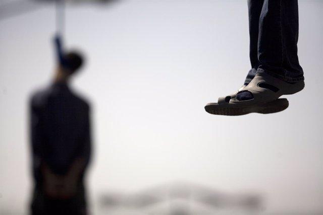 Ejecución en la horca en Irán