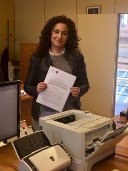 La diputada de Podemos de La Rioja Ana Carmen Sainz registra proposición
