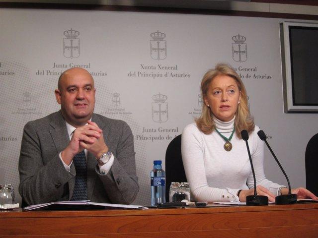 Los diputados de Foro Cristina Coto y Pedro Leal