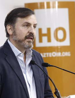 El presidente de Hazte Oír, Ignacio Arsuaga, en rueda de prensa
