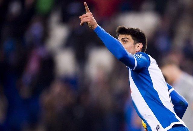Gerard Moreno celebra el empate