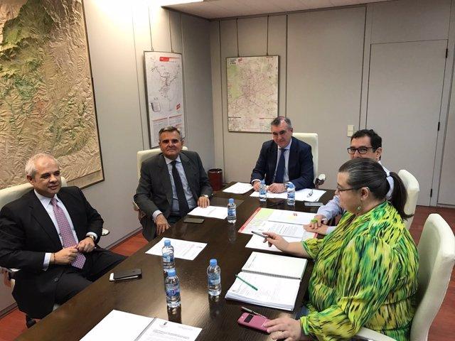 Reunión del alcalde de Majadahonda con el Consorcio de Transportes