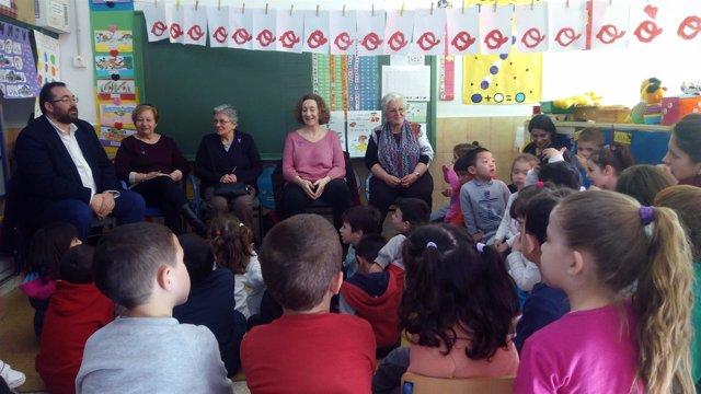 Actividad en el colegio Andrés Segovia con motivo del 8 de marzo
