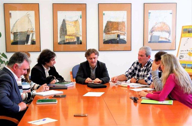 Reunión de Salvemos Doñana con el consejero de Medio Ambiente, José Fiscal