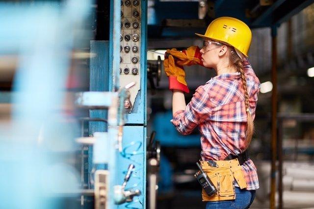 Trabajadora, mujer, trabajo, obrera