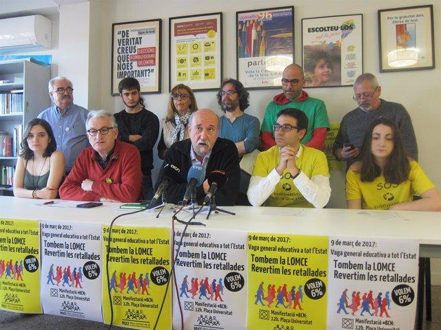 Rueda de prensa del Muce por la huelga estatal del 9 de marzo