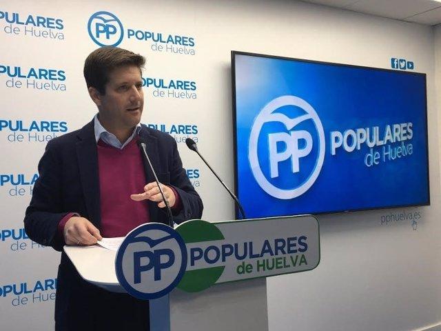 El parlamentario andaluz por el PP de Huelva Guillermo García Longoria.