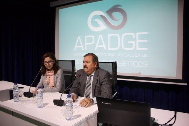 Presidente de Apadge y Matilde Valdivia.