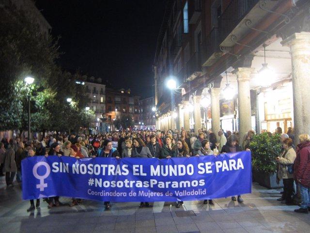 Valladolid. Cabeza de la manifestación en Valladolid