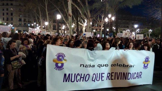 Manifestación por el 8 de marzo en Sevilla