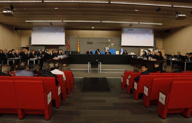 Plano general de la sala donde se celebra el juicio del caso Palau