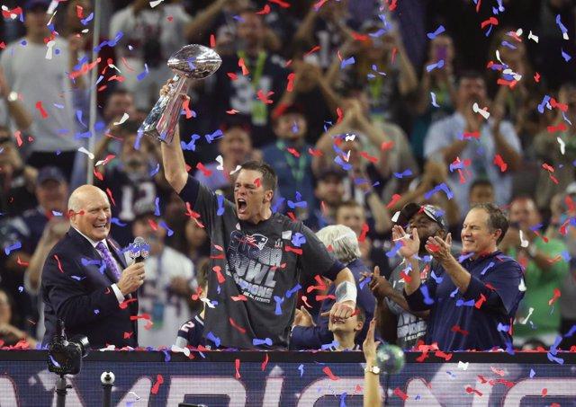 New England Patriots quarterback Tom Brady Super Bowl