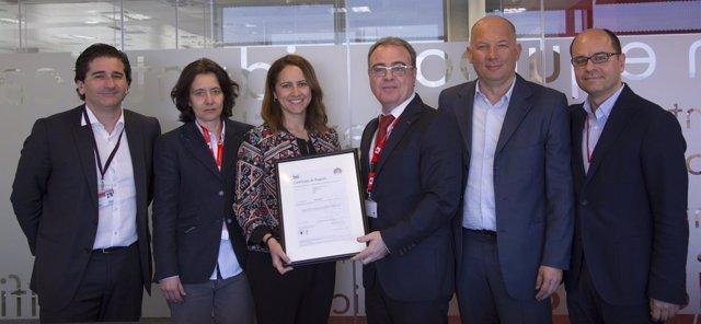 Acto de entrega de la certificación ISO 22301 a Securitas Direct