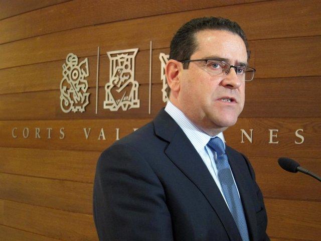 El portavoz del PP en las Corts, Jorge Bellver.