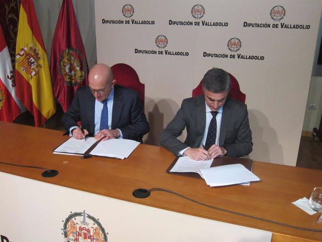 Valladolid. Carnero y Barbero firman el convenio