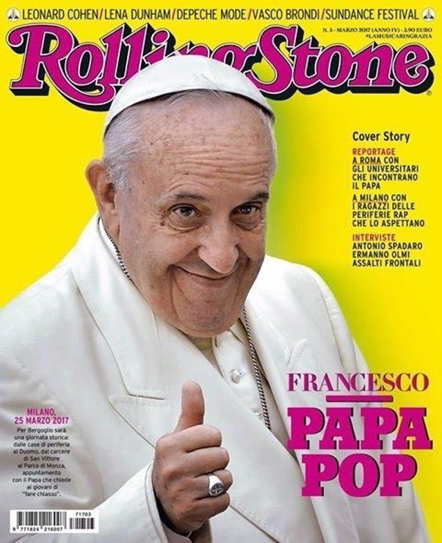 El Papa en la portada de la edición italiana de la revista Rolling Stone