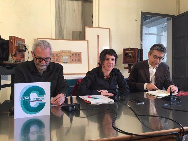 Oriol Nel·lo, Gala Pin y Jordi Martí