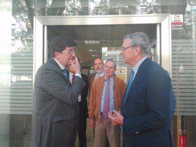 Juan Marín, hoy con el presidente de Asian, Fernando Yllescas