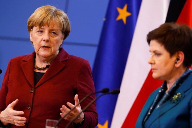 Angela Merkel y Beata Szydlo
