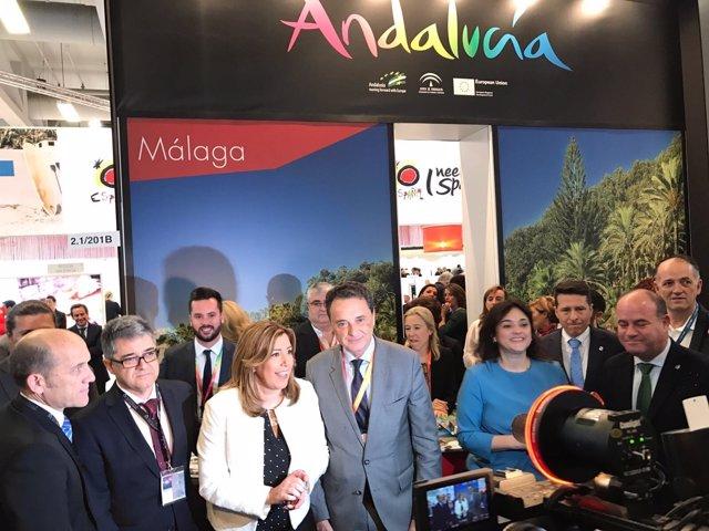 Ortiz alcalde Torremolinos ITB berlín con Susana Díaz y Porcuna del cid barón