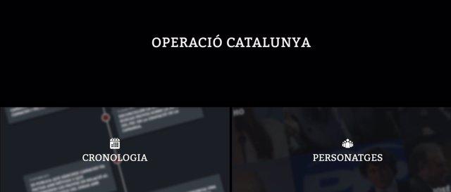 Web sobre la 'Operación Catalunya' del PDeCAT
