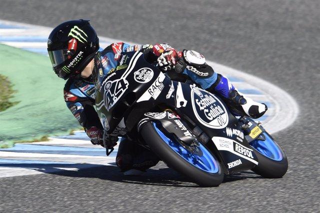 El piloto español de Moto3 Arón Canet (Estrella Galicia 0,0)