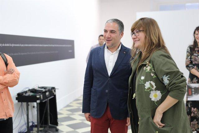 Elías Bendodo e Isabel Coixet en La Térmica