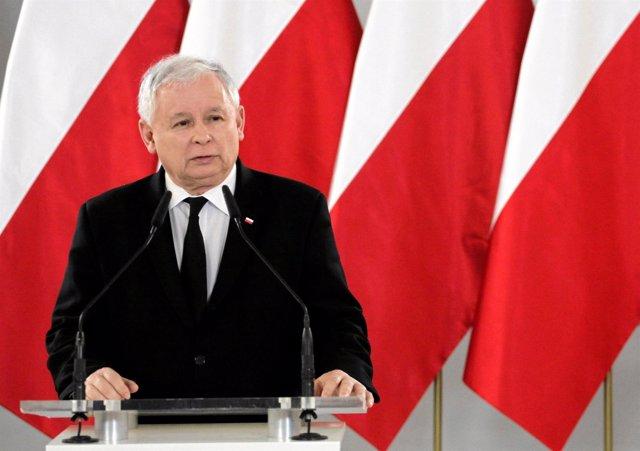 El líder del PiS polaco, Jaroslaw Kaczynski