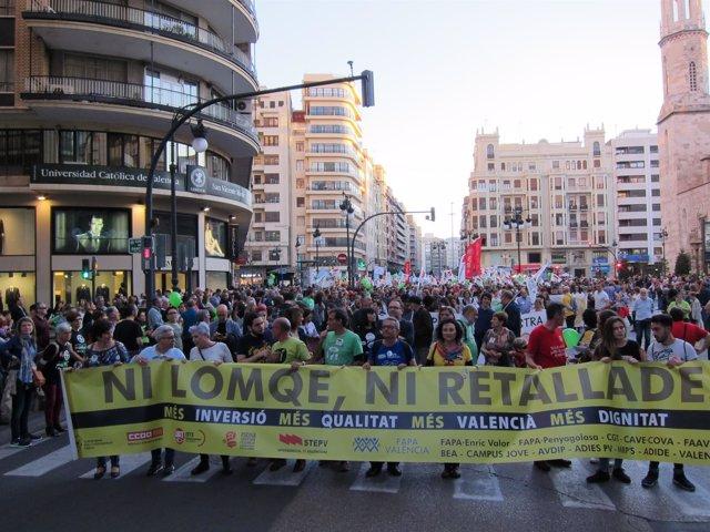Manifestación del 9 de marzo en València