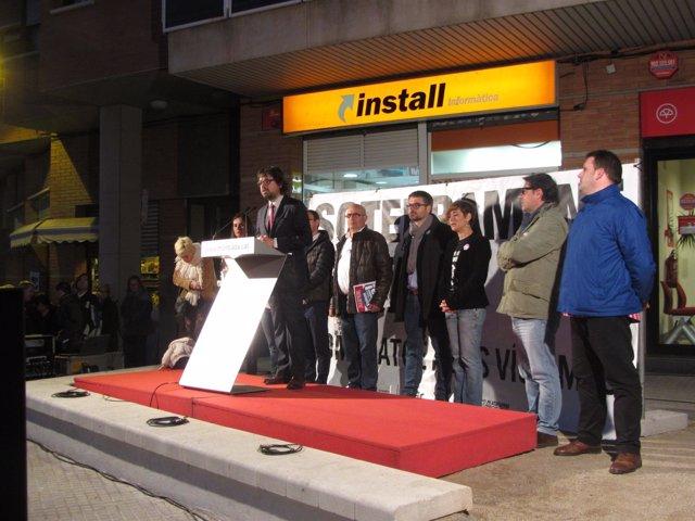 El secretario de la Generalitat Ricard Font en un acto de homenaje en Montcada